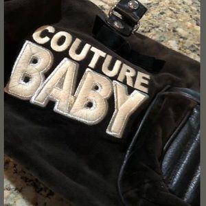 Black velour juicy couture diaper bag vintage